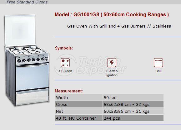Hornos trenzados gratis 50x50 rangos de cocina GG1001GS