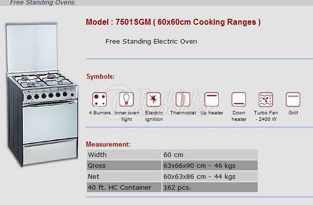 Free Stranding Ovens 60x60 Cooking Ranges