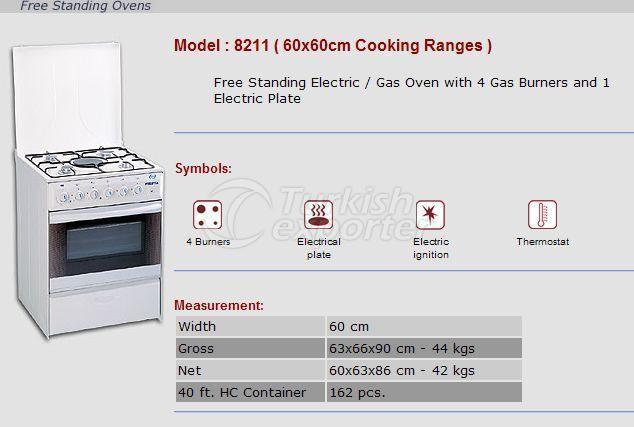 Fornos de encalhe grátis 60x60 Faixas de cozinhar 8211