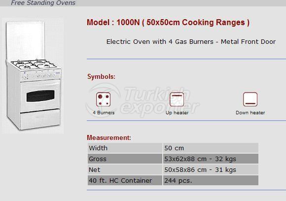 Free Stranding Ovens 50x50 Cooking Ranges