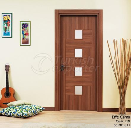 Porte en bois Effe vitrée