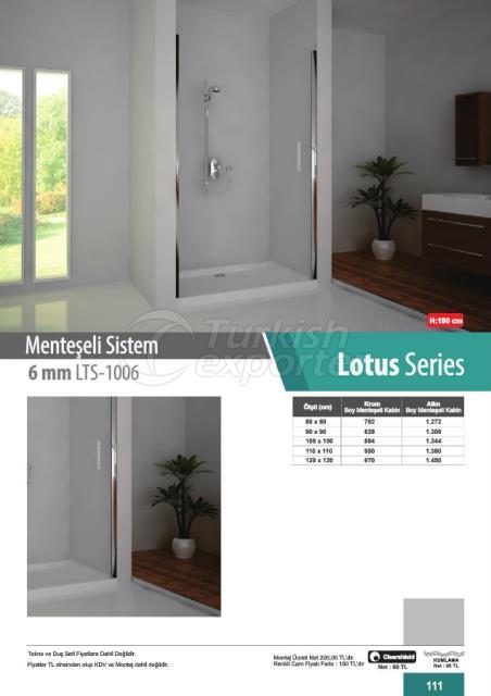 Shower Cabin Hinged Lotus