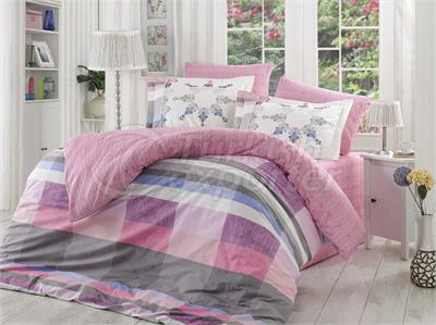 Alanza Lilac - Poplin Single Bed Linen Set (98017400232)