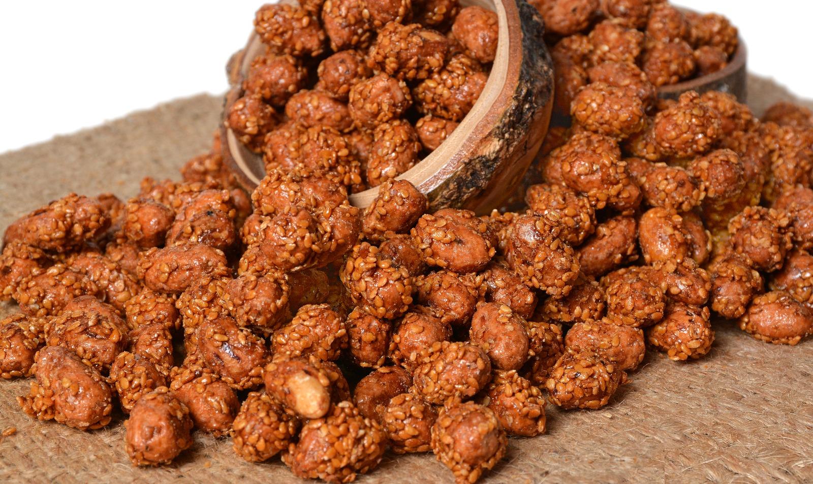 sesame coated peanuts