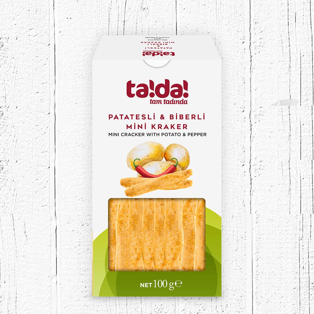 Cracker With Potato - Pepper