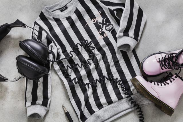 Child Stripy Sweater Dress