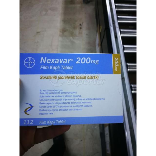 NEXEVAR 200 MG 112 TABLET DE PELÍCULA