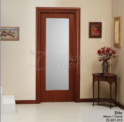 Porte en bois Elda vitrée
