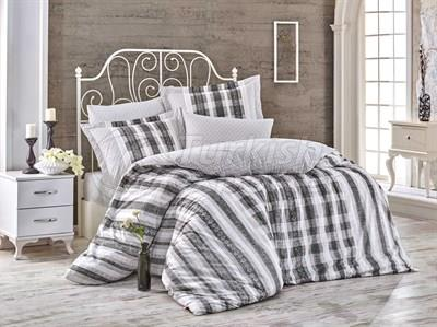 Debora Black - Poplin Single Bed Linen Set (8698499130326)