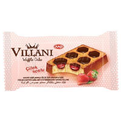 Waffle Cake with Strawberry Sauce -Villani