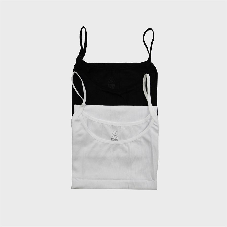 Women Undershirt - White and Black