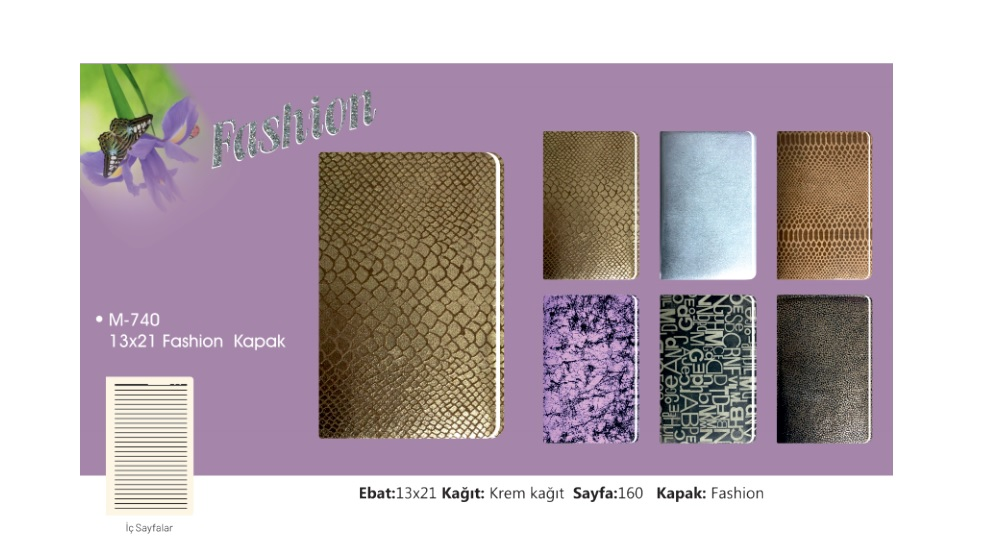 M-740 Fashion Covered Notebook