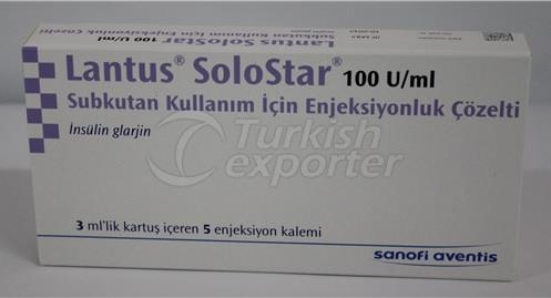 LANTUS SOLOSTAR 100 IU 5 INJECTIONS