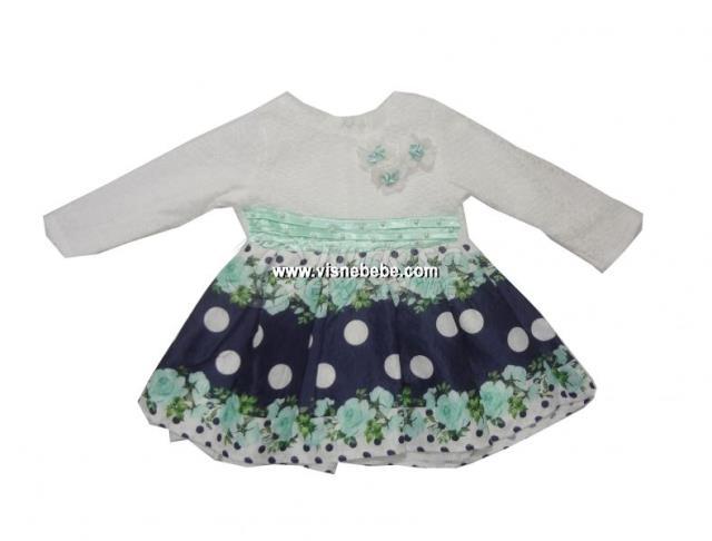 Strawberry Jacquard Baby Girl Dress