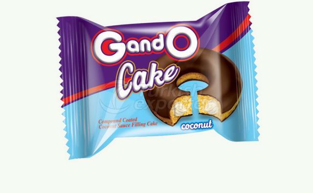 Hindistan Cevizi Soslu Kakao Kaplamalı Donut Kek