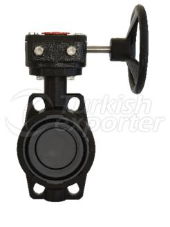 PVC-UH Reduction Gear Butterfly Valve With Handwheel