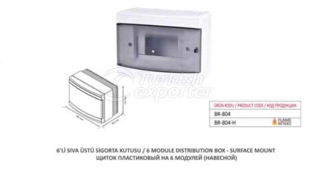 6 Module Distribution Box-Surface Mount