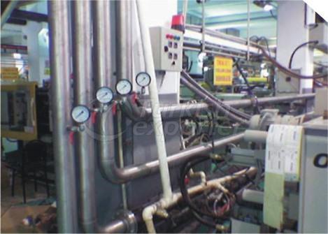Installation de tuyaux en acier inoxydable