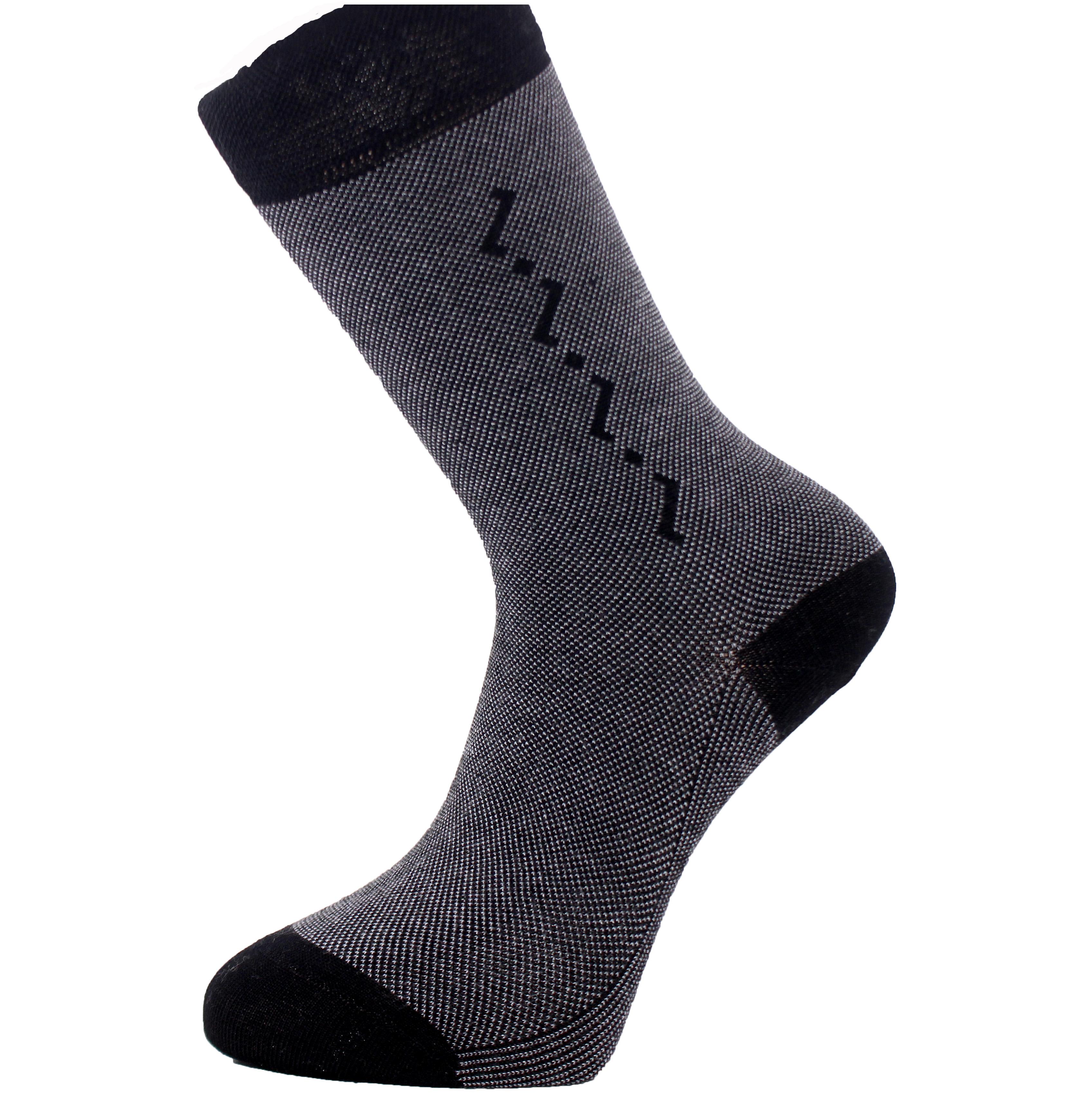Black on Grey Men Socks