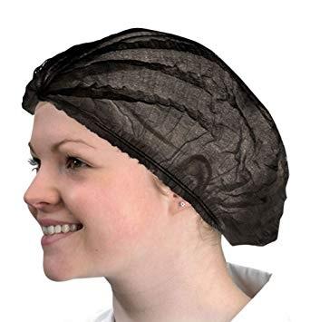 Disposable Black Bonnet