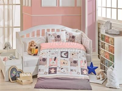 Sweethome Pink -Baby Bed Linen Set (8698499129405)