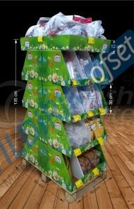 Partitioned Cardboard Stand