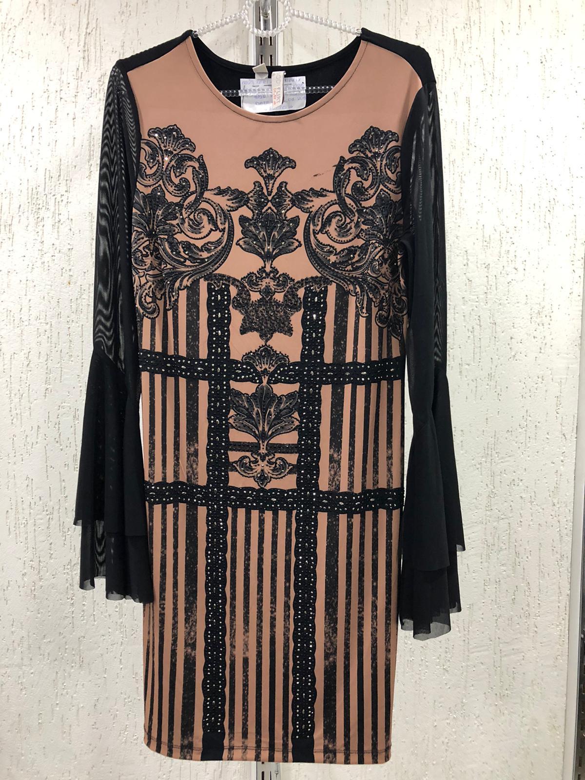 printed stony dress