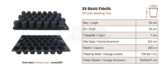 35 bacs de semis