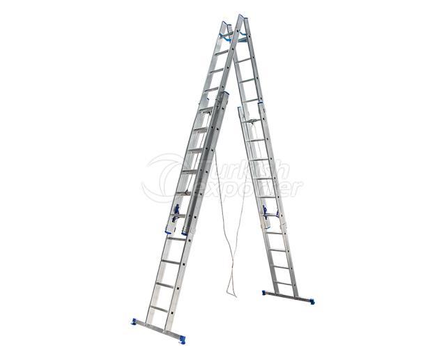 4 Parçalı Üstten Sürgülü Alüminyum Merdiven