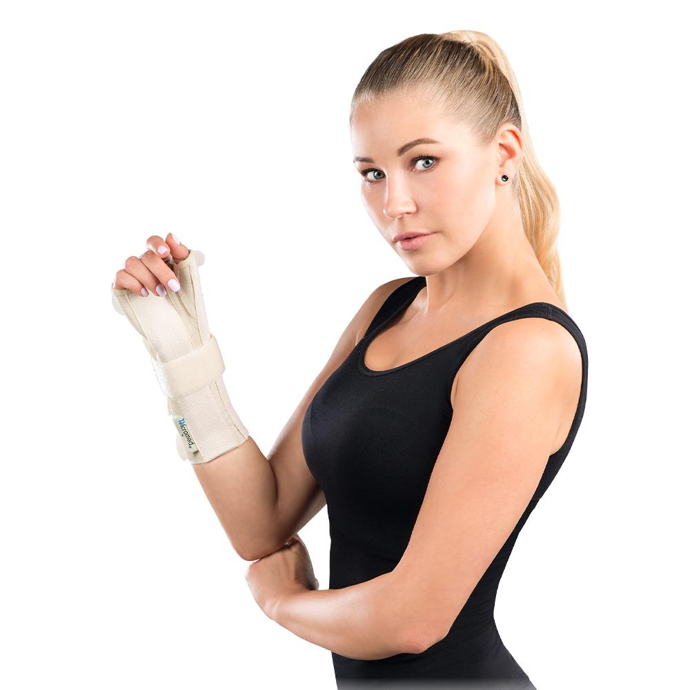 Férula de mano y muñeca con soporte de pulso