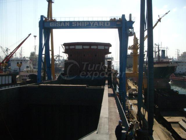 gantry crane shipyard 60X2=120 ton
