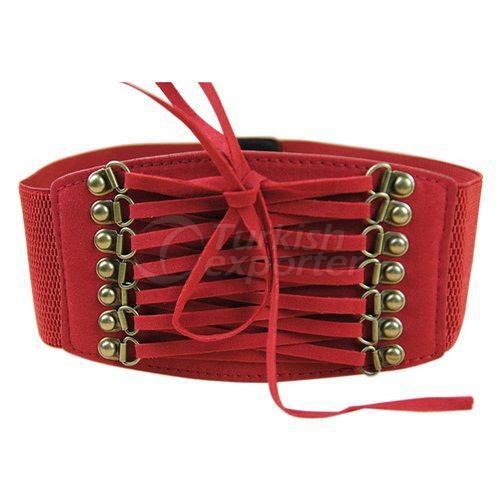Belt Rubber Red for Women