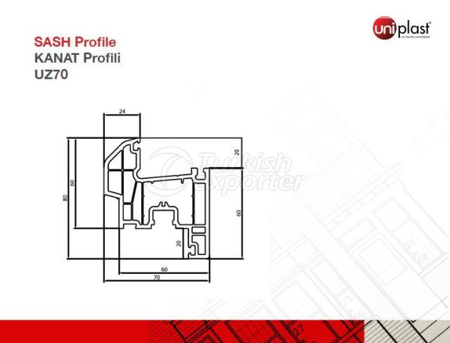 Sash Profile UZ701