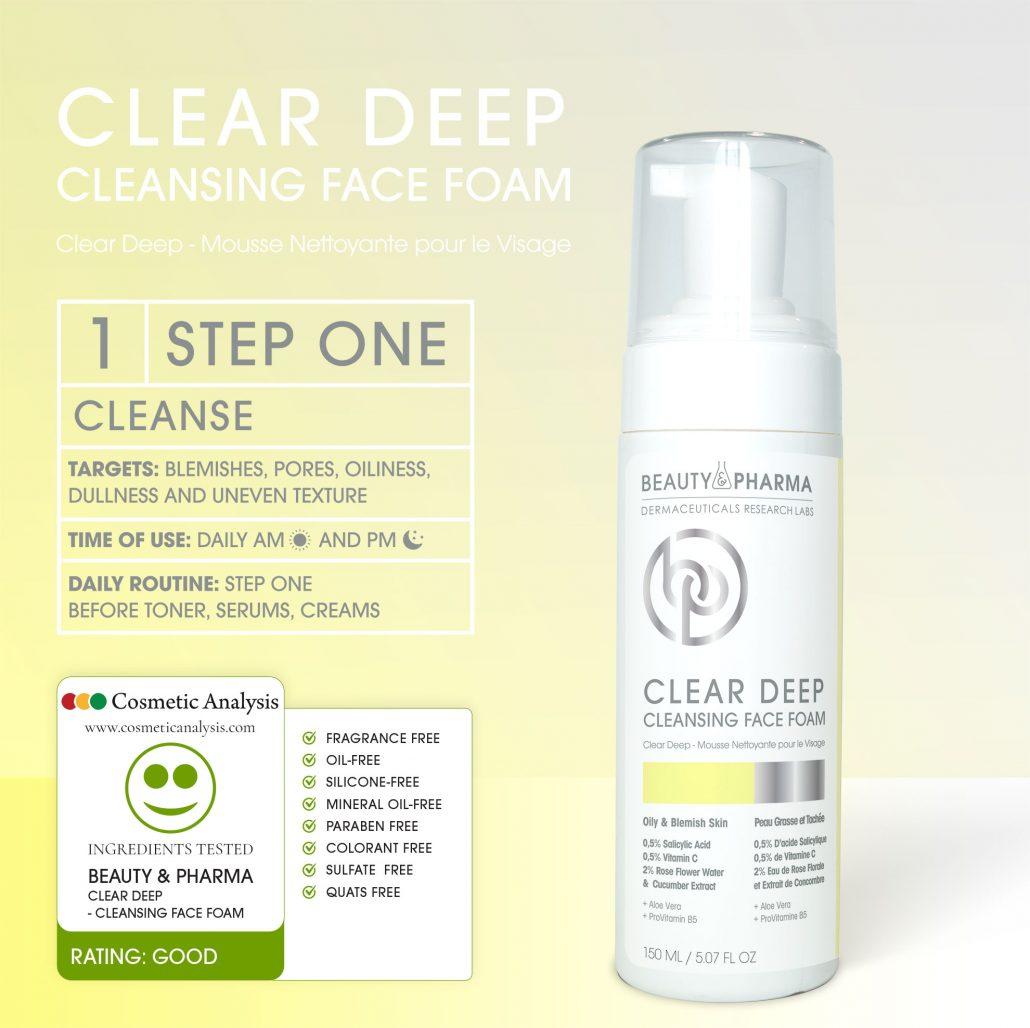 CLEAR DEEP CLEANSING FACE FOAM