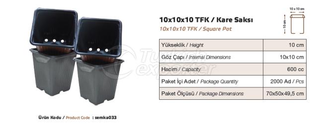 Pot carré 10x10x10