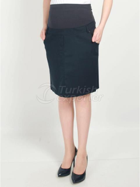Maternity Clothes Gabardine Short Skirt
