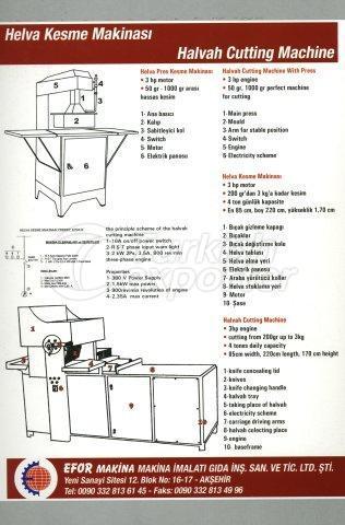 Halvah Cutting Machine