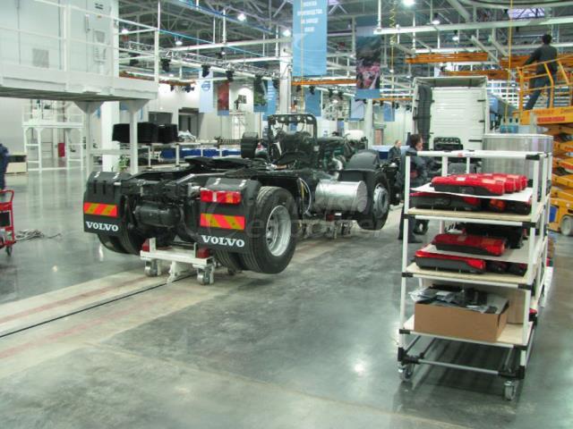 Equipos de línea de ensamblaje de camiones Volvo