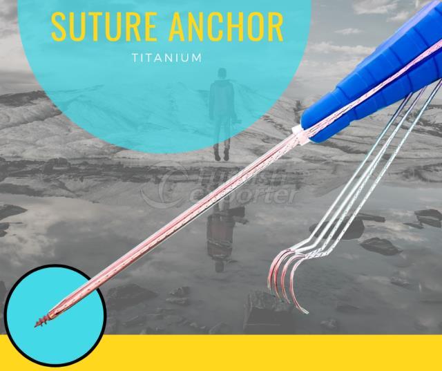 Ancre de suture - Titane