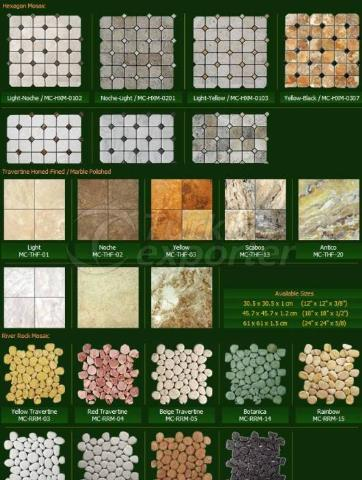 Natural Stone Series Hexagon Mosaic