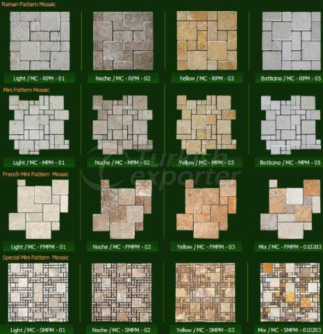 Natural Stone Series Roman Pattern Mosaic