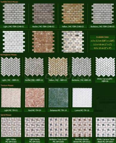 Natural Stone Series Tumbled Brick Mosaic