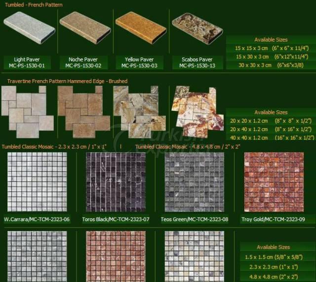 Doğal Taş Serisi Dizme Klasik Mozaik