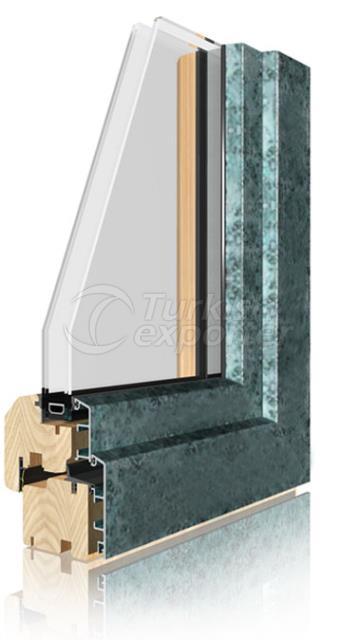Wooden Aluminum Window and Door Systems -Bronz
