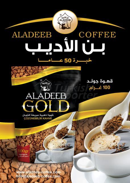 aladeeb 100g gold instant coffee