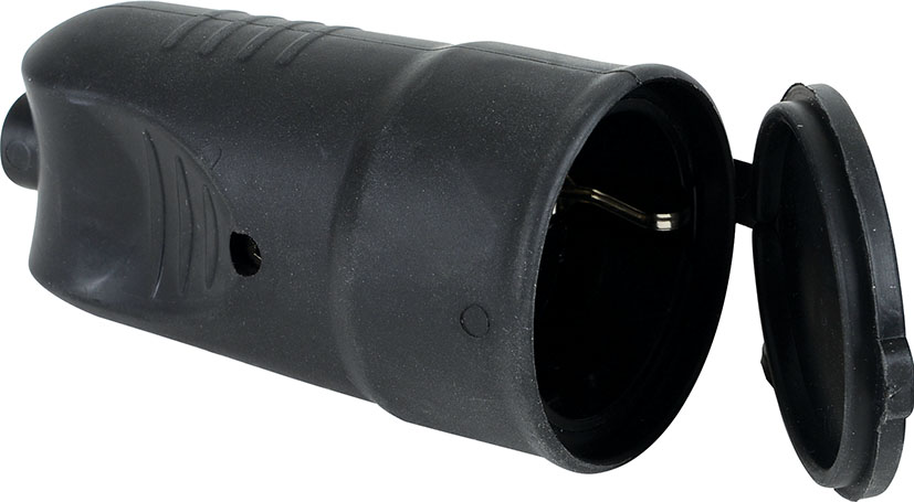 RUBBER TYPE EARTHED PLUG