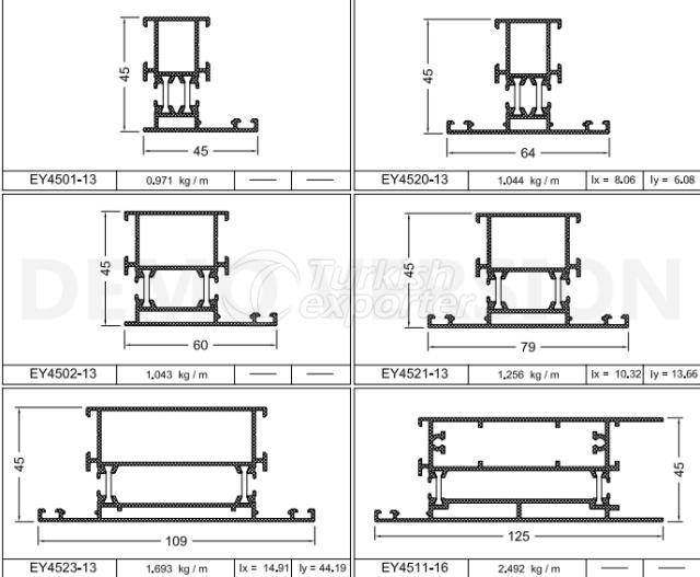 أنظمة الأبواب والنوافذ EY-45