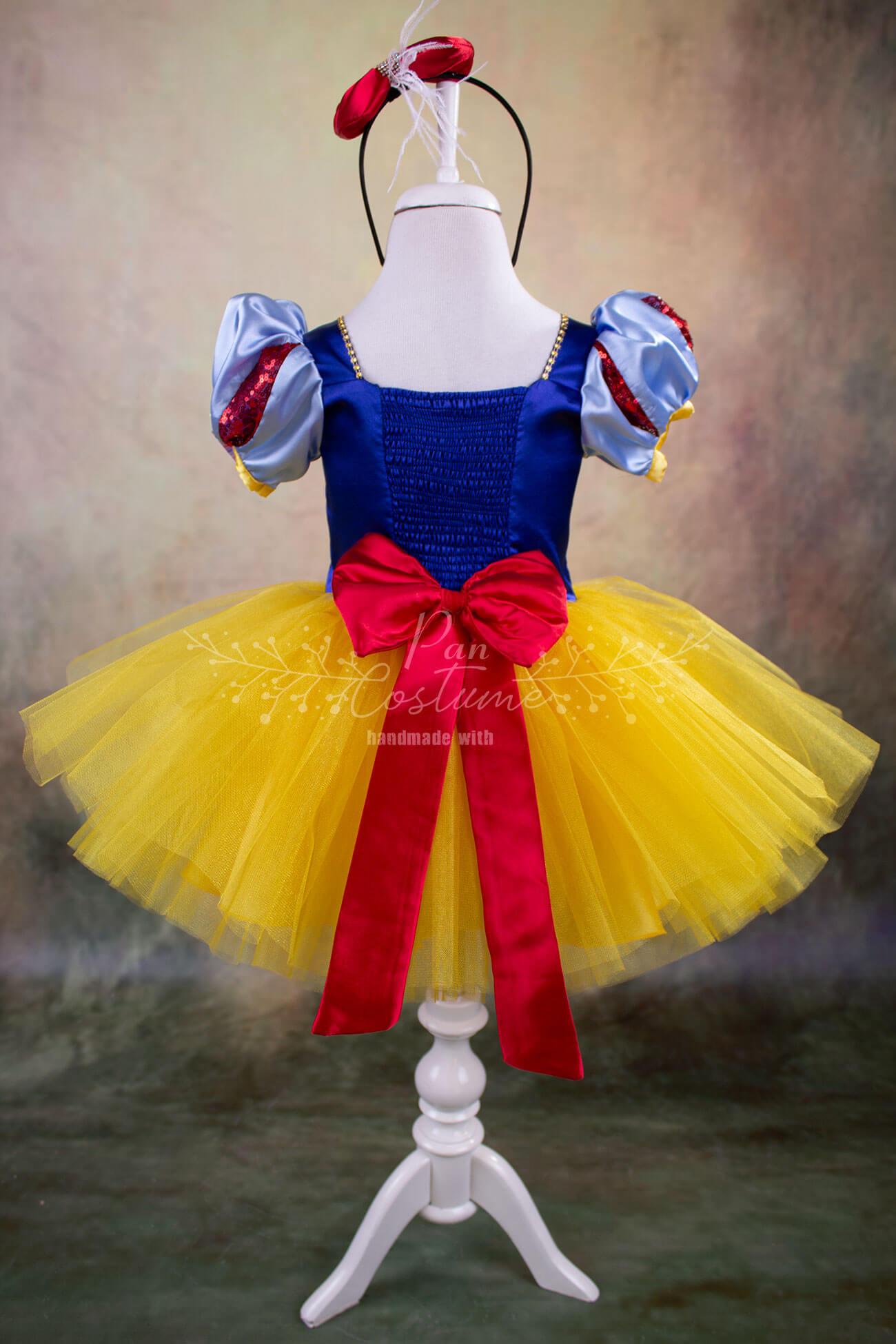 Snow White Mini Tutu Outfit Yellow Skirt