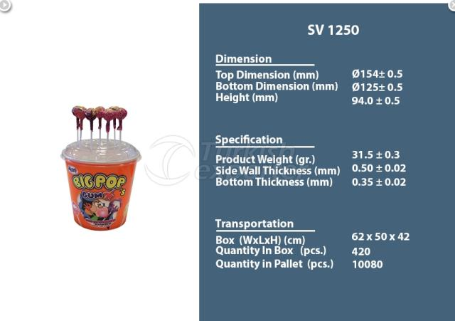 Plastic Container 1250 cc