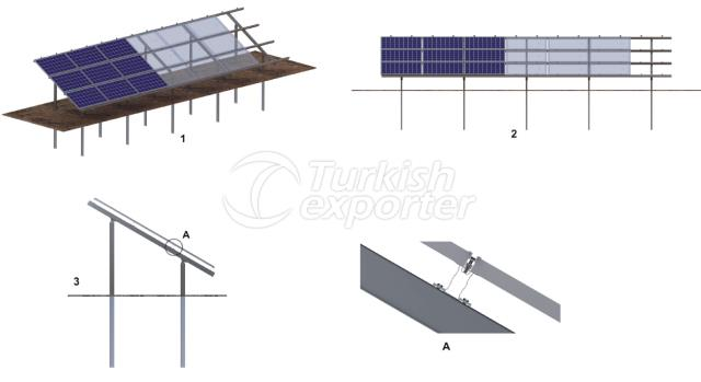 Field Type Solar Mounting System
